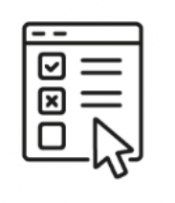 checklist with mouse pointer icon