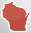 outline of the state of Wisconsin