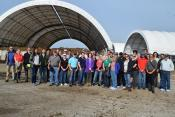 group of educators, regulators, and FDA staff at the ISU composting facility