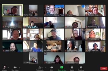 screenshot of a Zoom meeting with the planning committee