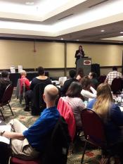 Londa Nwadike leads a session at the NCR annual conference