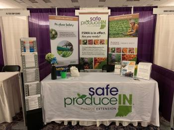 display of resources by Safe Produce Indiana