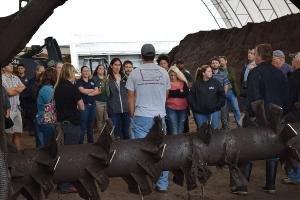 group at the ISU composting facility