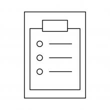 line drawing of a checklist