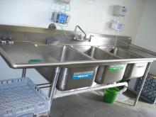 three sinks